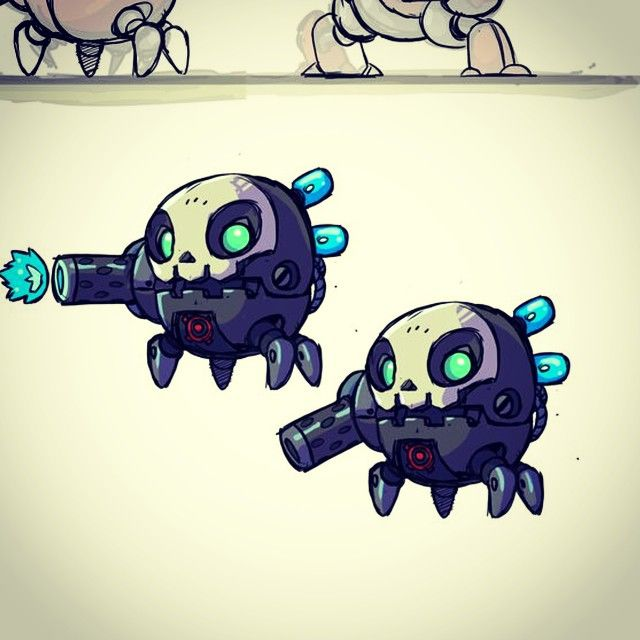 Little mech pod dudes. #gamedev #indiedev #BulletAge