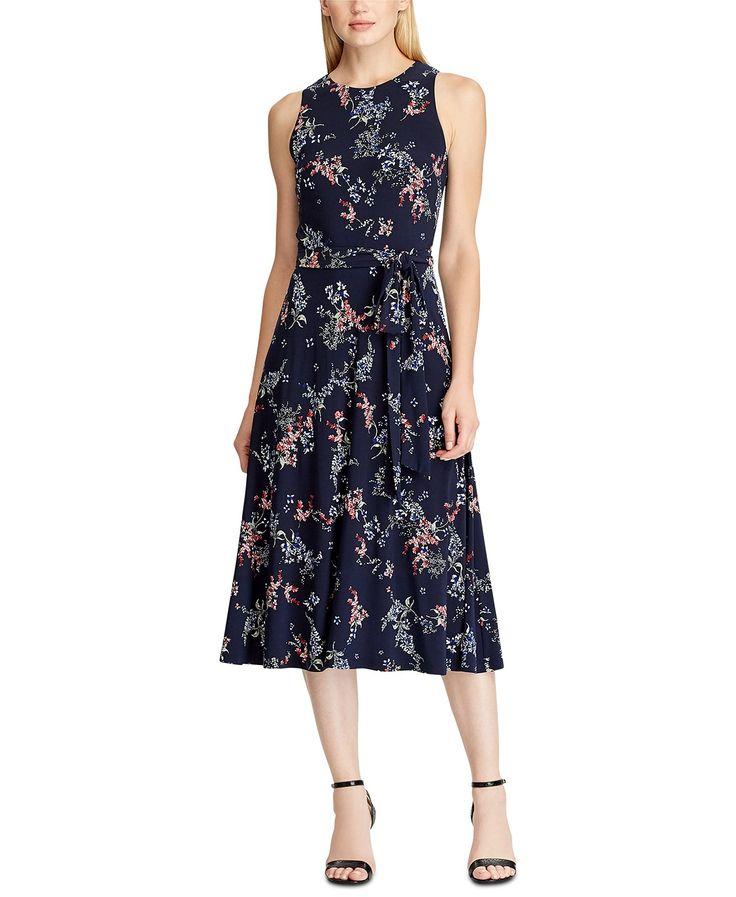 Lauren ralph lauren floral sleeveless midi dress reviews