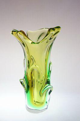 Hutní váza - Sommerso sklo Jan BERÁNEK, sklárna Škrdlovice