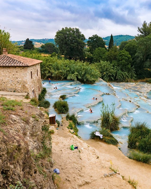 After Visiting Italy Is It Acceptable To Add Professional Saturnia Hot Springs Swimmer To Your Resume Absolutely Hotsprings Public Bath Hot Springs Italy
