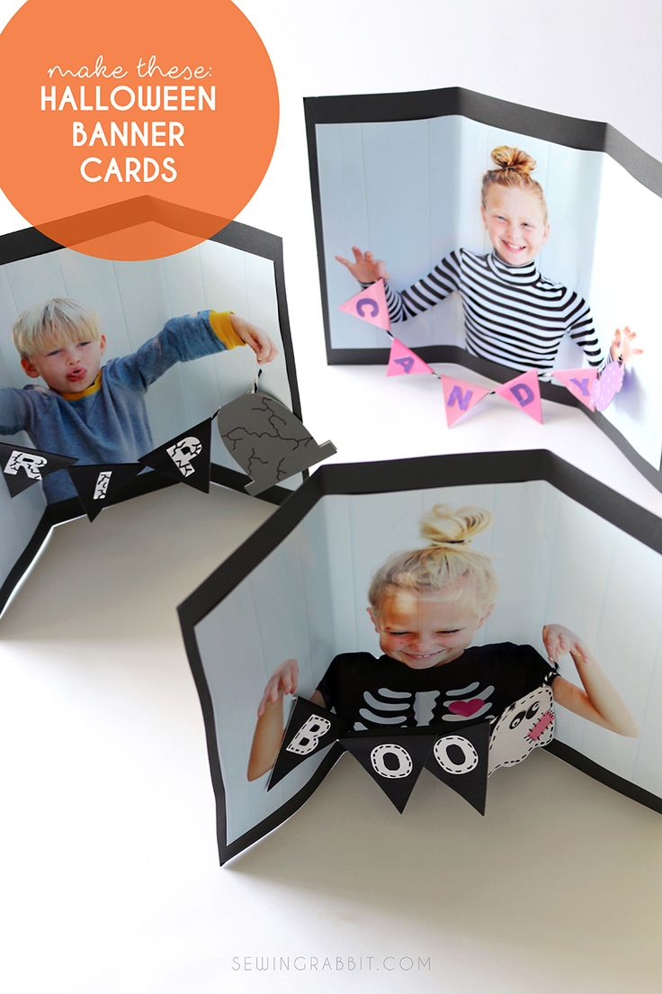 Halloween banner Cards - Halloween Craft DIY