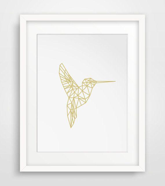Printable Hummingbird Spring Wall Art por MelindaWoodDesigns