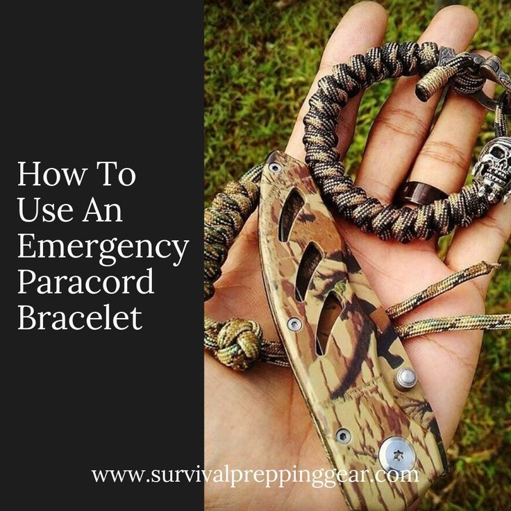 How To Use An Emergency Paracord Bracelet With Images Paracord