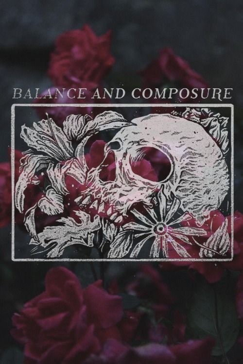 skull roses balance and composure