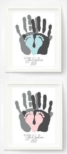 This Family Handprint Art is So Adorable and Priceless. I want to do this with Grayson