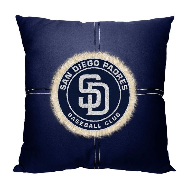 San Diego Padres MLB Team Letterman Pillow (18x18)