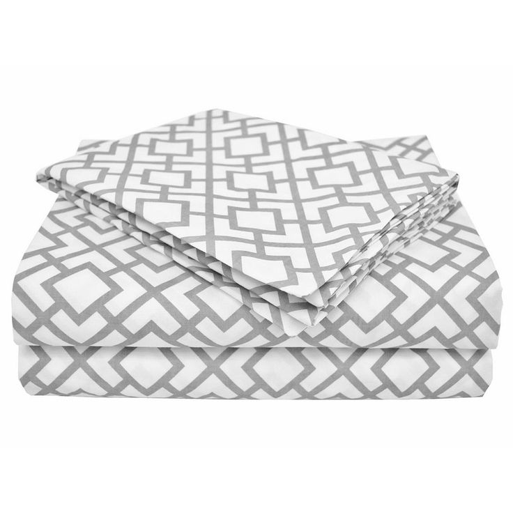 TL Care Percale 3-pc. Toddler Sheet Set, Grey One Size