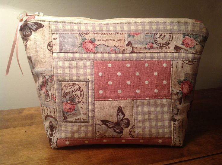 Patchwork cosmetic bag from a design idea by Jane Lightfoot