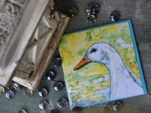 Home | Archbold Design Original painting of farm duck by Alison Archbold. Available as Greeting card, gift card, Print or designer cushion. Australian made.