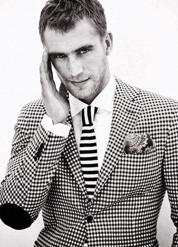 Perfect combination of check and stripe