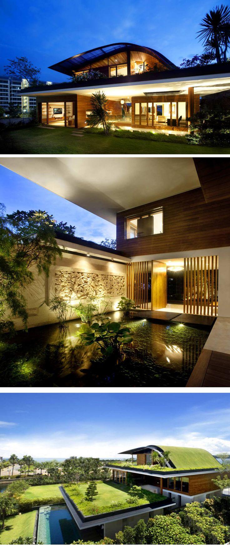 me gusta la idea de la sustentabilidad y los techos verdes, pero en esta obra, creo que se exagero con los espacios verdes