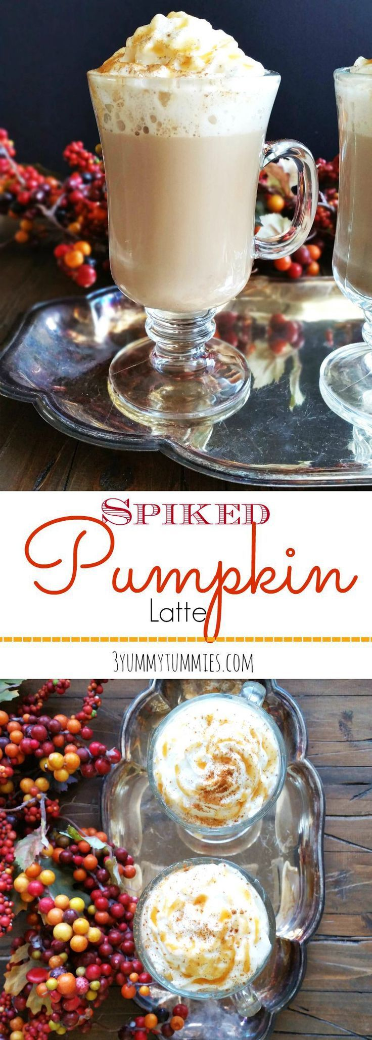 Rum Chata tops off this delicious caramel and pumpkin spice latte!