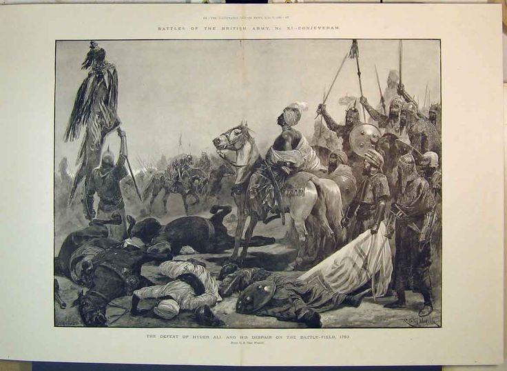 1895 Battles British Army Defeat Hyder Ali Dead Field
