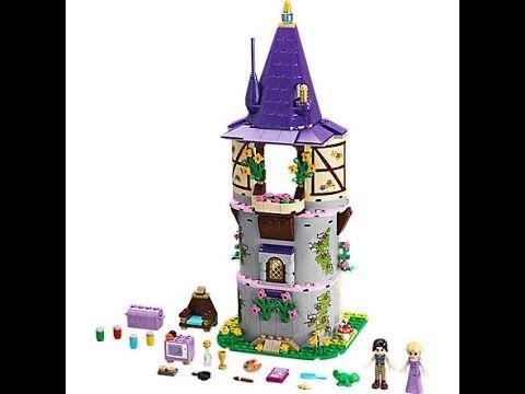 Лего замок Рапунцель распаковка и сборка. Lego Rapunzel's Tower set 41054.
