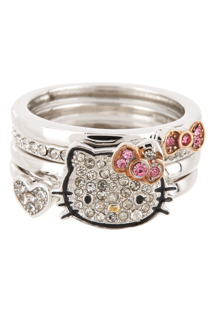 Cute, Cute, Cute Hello Kitty Ring Stack Set