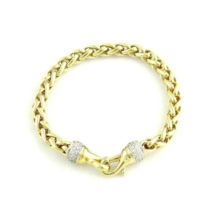 David Yurman David Yurman 18K Yellow Gold Wheat Bracelet | TrueFacet