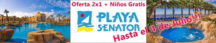 #Hoteles Playa Senator: #Oferta 2x1 + Niños Gratis  HASTA EL 4 DE JULIO!!   http://agente.1000tentaciones.com/ahorrovacaciones