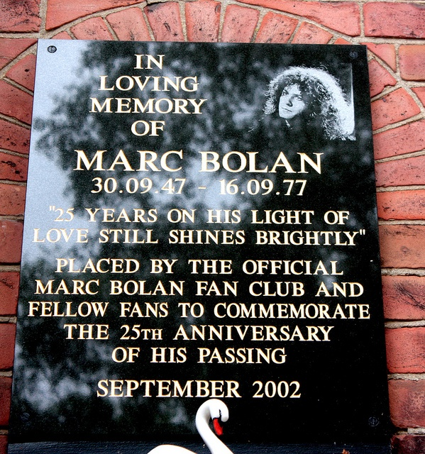 Marc Bolan, Golders Green Cemetery by icb2011, via Flickr
