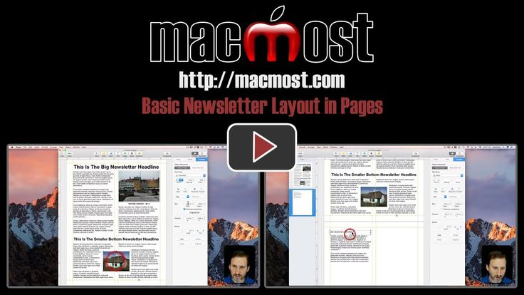Basic Newsletter Layout in Pages – MacMost