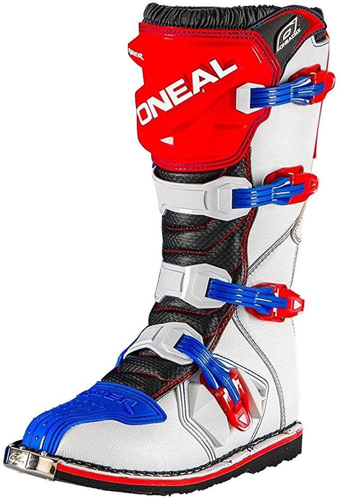 Weißdamen Boot Rider Cross Stiefel Blau Rot O'neal Mx jL5q3A4R