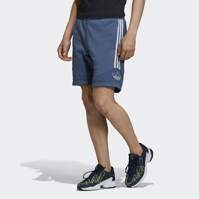 TS Trefoil Shorts Grey Mens | Blue adidas, Fleece shorts