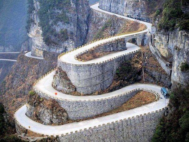 #Tianmen #Mountain - #горная #дорога #Китай