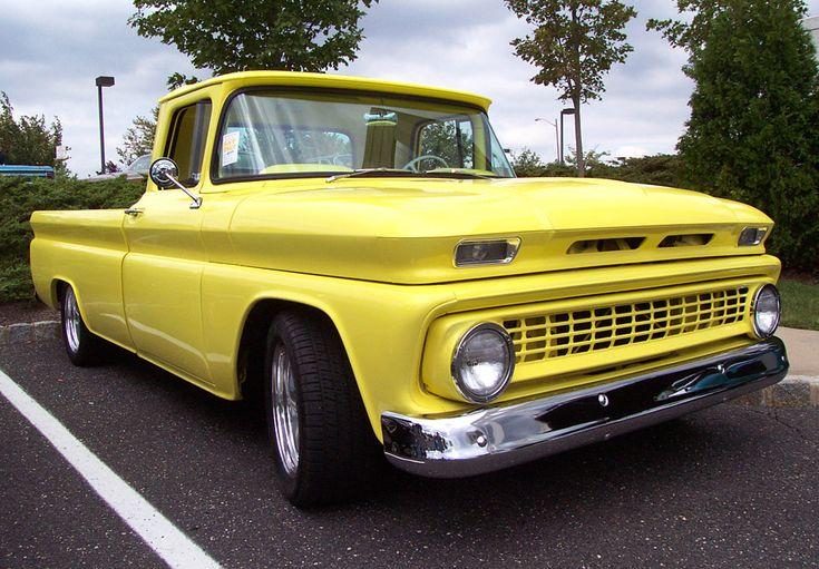Yellow 1963 Chevy Pickup
