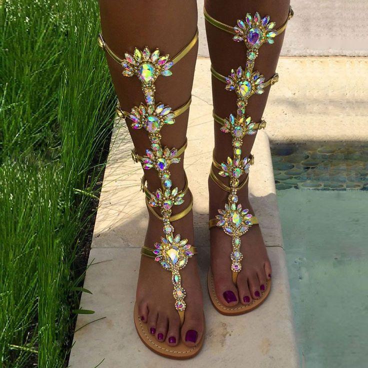 missyheels.it SUPPLIES Rubber Block Heel High Shaft 1cm Glueing Plain Rhinestone Casual Sandals Dress Sandals