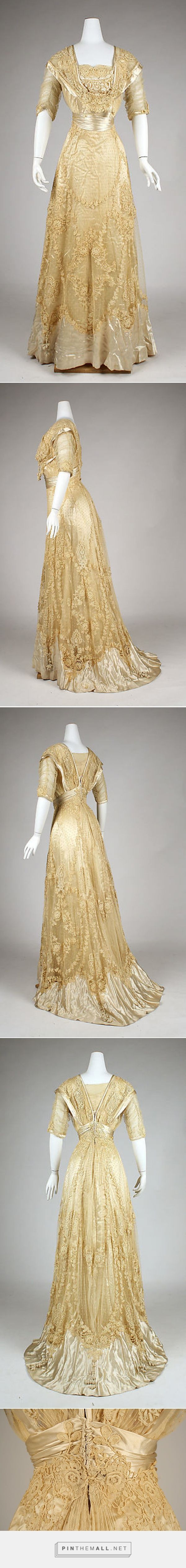 Ball gown ca. 1908 American This is Sadie the young housekeeper's ballgown commissioned by the Lowes.