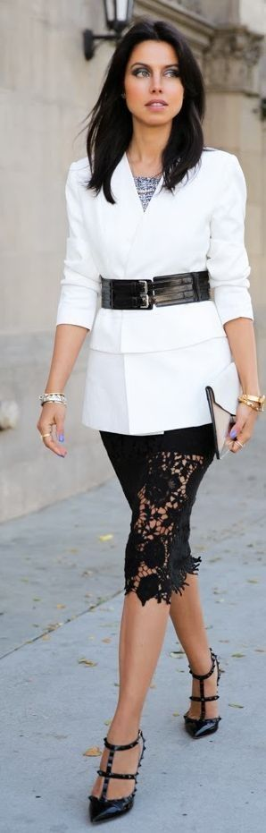 Pixie Market Midi Black Lace skirt by Vivaluxury