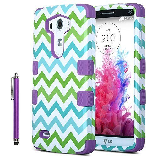 LG G3 Case, ULAK Hybrid High Impact Soft TPU + Hard PC Case for LG G3, Colorful Wave Lastest Pattern Cover for G3 with Screen Protector and Stylus (Purple), http://www.amazon.com/dp/B00P1ZPRJS/ref=cm_sw_r_pi_awdm_mKEHub0G68GFJ