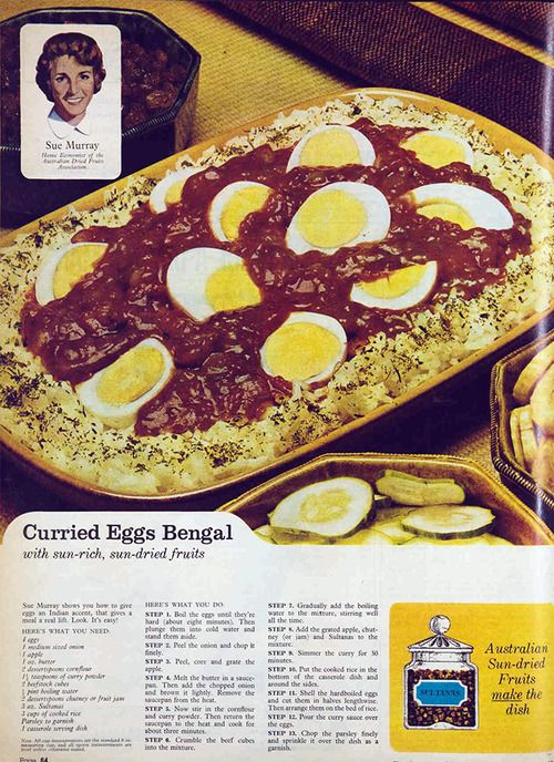Curried Eggs Bengal, 1965. I didn't think u could ruin curry. I was wrong.