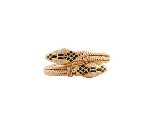BRACELET COBRA ÉMAIL OR - Bracelets - Produits