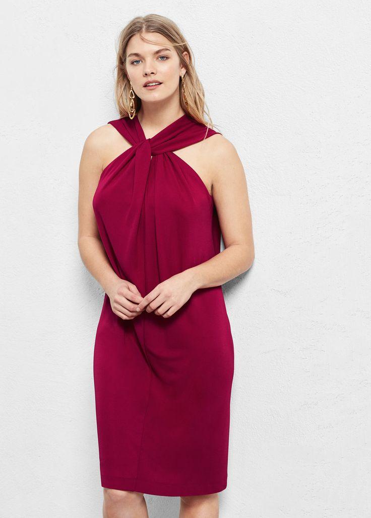 Vestido asimétrico -  Violeta | Violeta by MANGO España