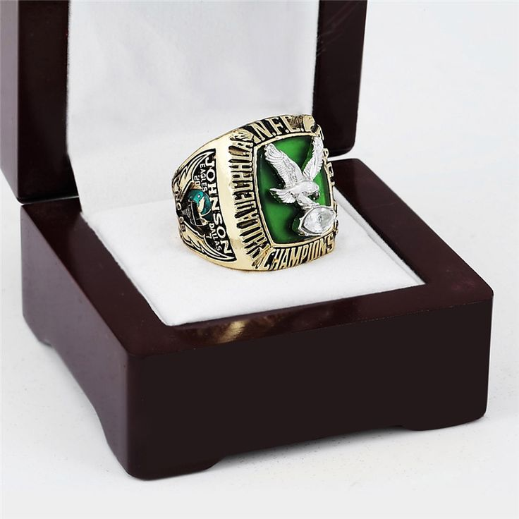 ==> [Free Shipping] Buy Best 1980 PHILADELPHIA EAGLES NFC Football Championship Ring 10-13 size with cherry wooden case Online with LOWEST Price | 32751467308