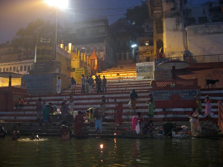 Early Morning Bathing Varanasi India 8X10 Photograph  chamelagiri.etsy.com