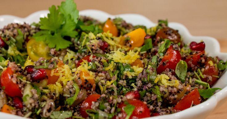 Quinoasalat med granateple - sommerens nyhet