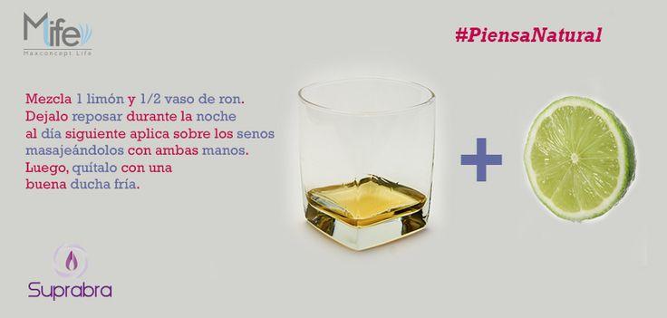 Si quieres reafirmar tus #senos sigue este practico #tip con Ron y Limón. #PiensaNatural www.suprabra.com