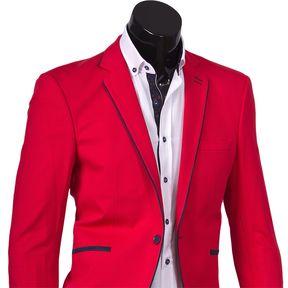 Красный пиджак под джинсы купить недорого в Москве