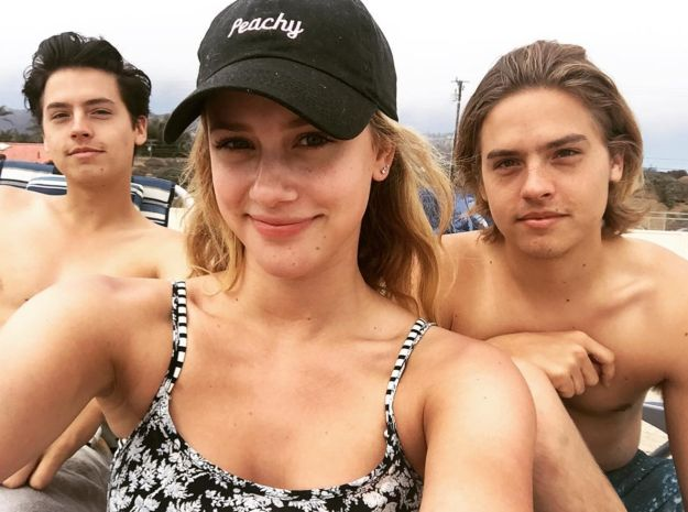 "BUGHEAD! And Lili chilled with Cole and his twin brother Dylan. | 27 Times The ""Riverdale"" Cast Were Completely Adorable IRL"