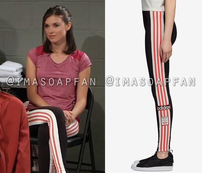 f6b0e85dcc Willow Tait's Black, White, and Pink Striped Leggings - General ...