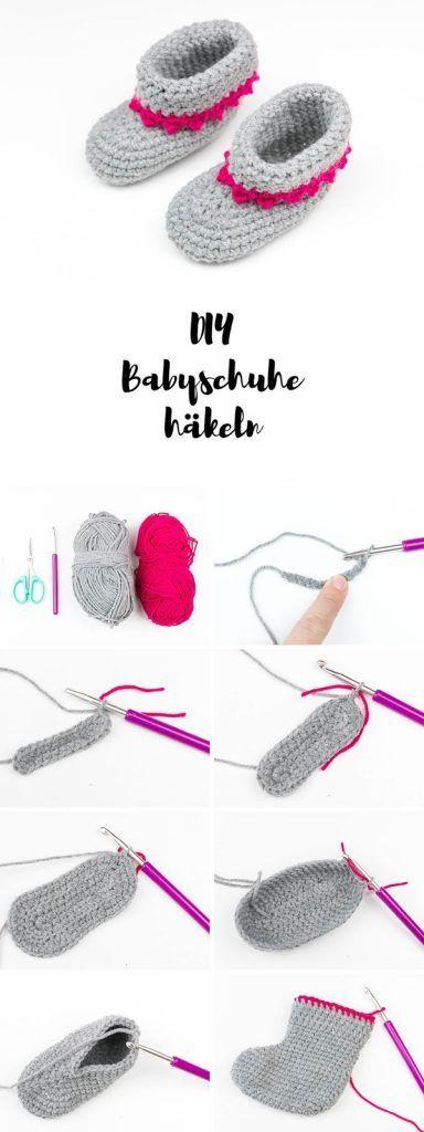 Baby Accessories Babyschuhe mit Anleitung häkeln - ein tolles DIY Geschenk zur Geburt