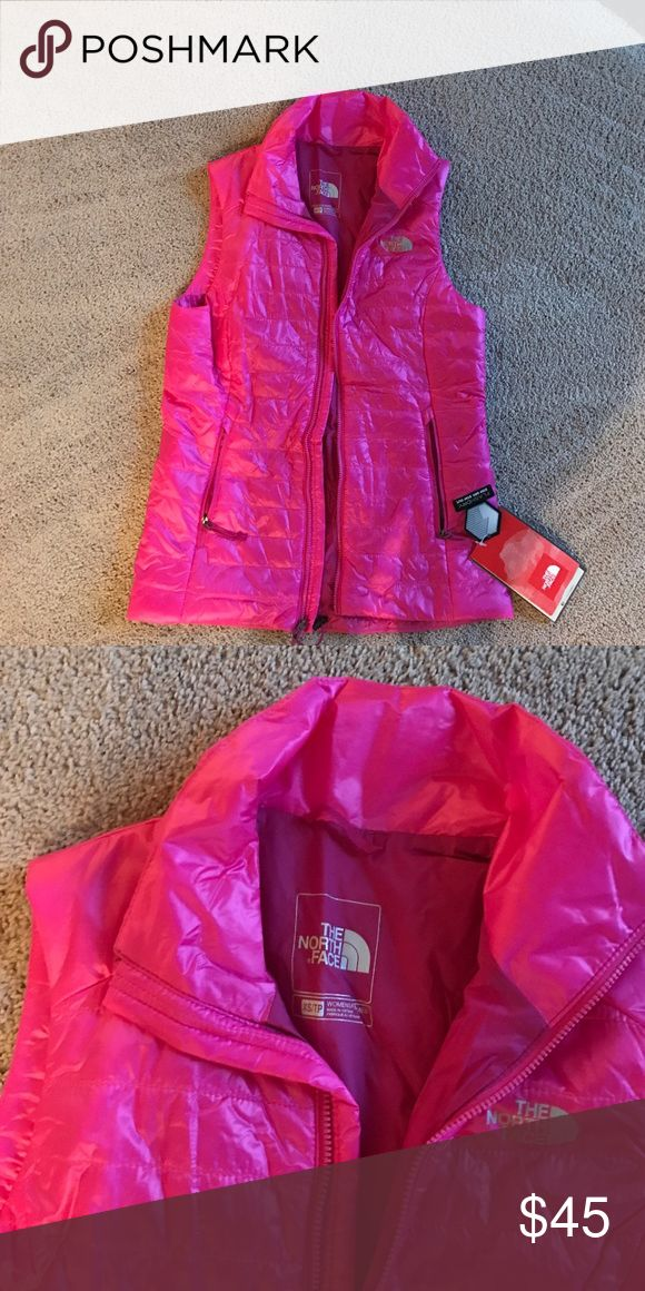 North Face pink vest Linaria pink xsmall flash dry vest North Face Jackets & Coats Vests