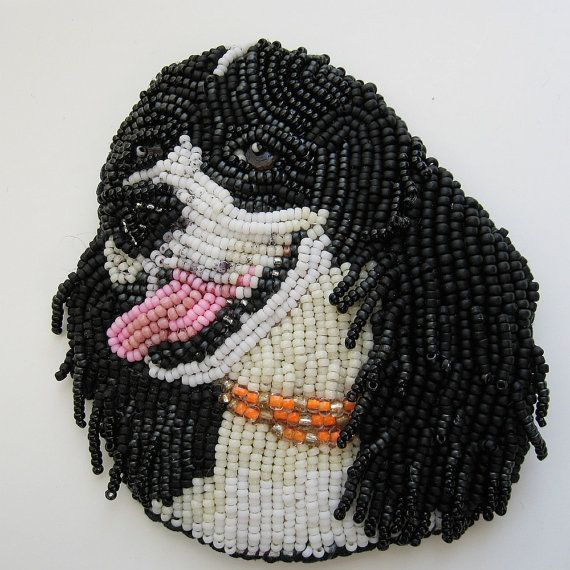 Custom Made Pet Beaded Brooch