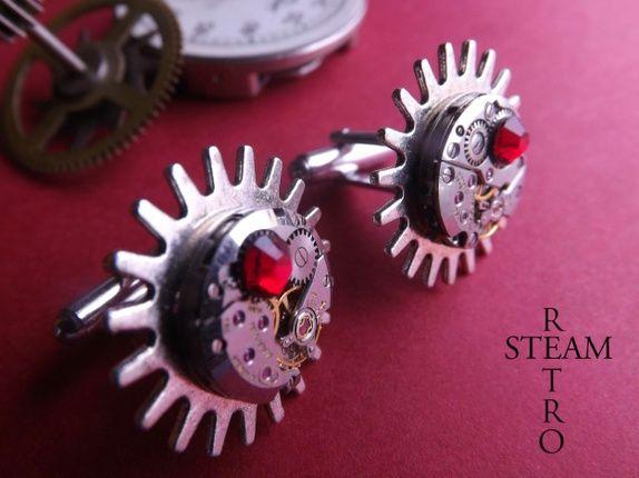 Steampunk Brunel Mansjettknapper - Mansjettknapper for menn - Steampunk smykker av Steamretro - Mansjettknapper - Steampunk Smykker