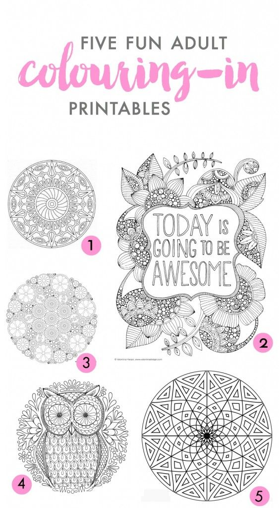 Five of the best: Adult colouring-in printables - Fat Mum Slim