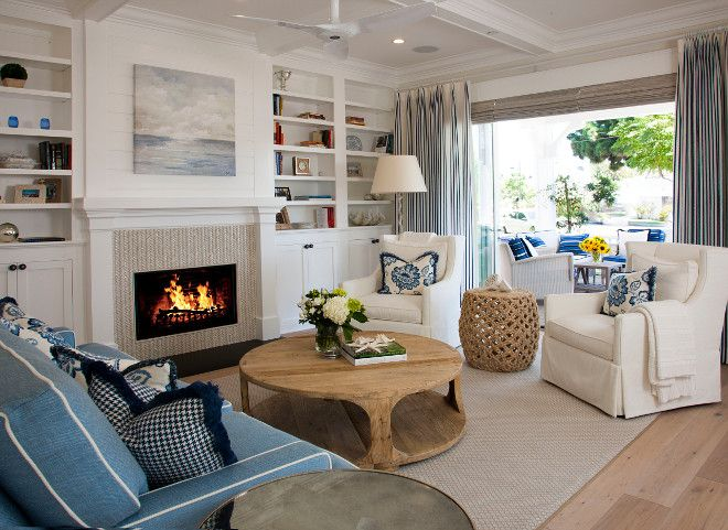 Coronado Island Beach House With Coastal Interiors Home Bunch Cant Tell If Fireplace Living RoomsWood FireplaceFireplacesHerringbone
