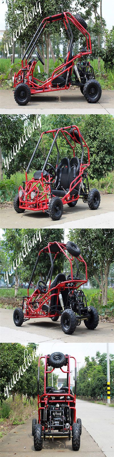 Complete Go-Karts and Frames 64656: Crt Df-Moto 110Cc Go Kart Matte Df110gkb Steel Free Spare Wheels Red Vehicle BUY IT NOW ONLY: $999.99
