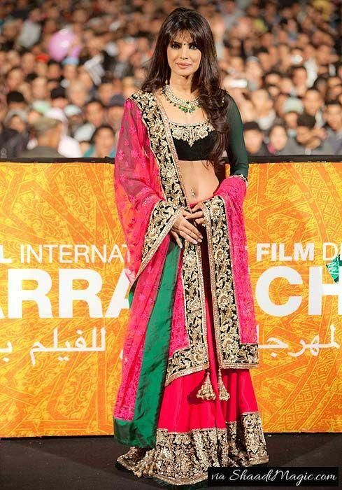 Priyanka Chopra In Lehenga Choli.  As our actress kept wearing lehenga choli for every occasion, we are sure that this lehenga choli and her style statement grabbed your attention.