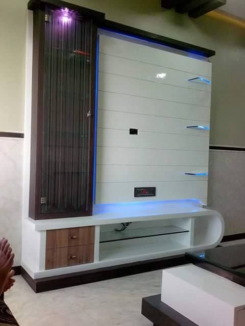 picture of lorena tv wall unit tv units with cabinets pinterest tv walls tvs and walls - Interior Design Lcd Tv Unit